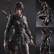 Play Arts Kai PA Tomb Raider Lara Croft Figure Play Arts Figure PA 26cm PVC Action Figure Doll Toys Kids Gift Brinquedos