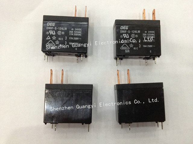 OEG Relay OMIF-S-124LM DC24V 4pins Max Switched Current:20Amps Miniature Power PCB Relay Price can be discussed