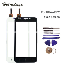 Front Outer Glass Lens For Huawei Y5 Y541 Y5c Y541-U02 Touch Screen LCD Glass Digitizer Panel Front Sensor Parts Wth Tool ulefone be touch 3 lcd display with front panel touch glass lens digitizer screen original parts free shipping