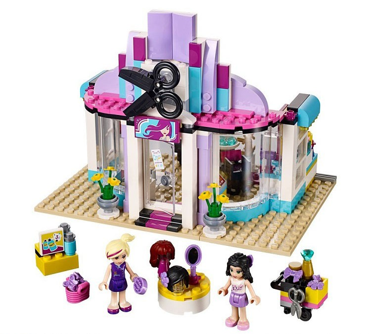Compatible with Lego Lepi 41093 Friends Series Heartlake Hair Salon Model Building Kits Blocks Bricks set Toys