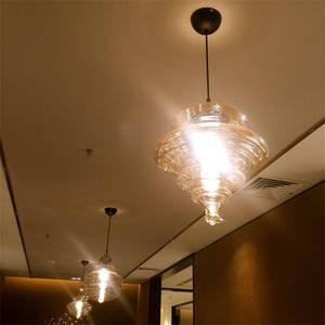 Image 3 - Lampe led suspendue en verre en forme de gourde, design nordique, luminaire décoratif dintérieur, idéal pour un loft, un salon, une salle à manger ou une cuisine