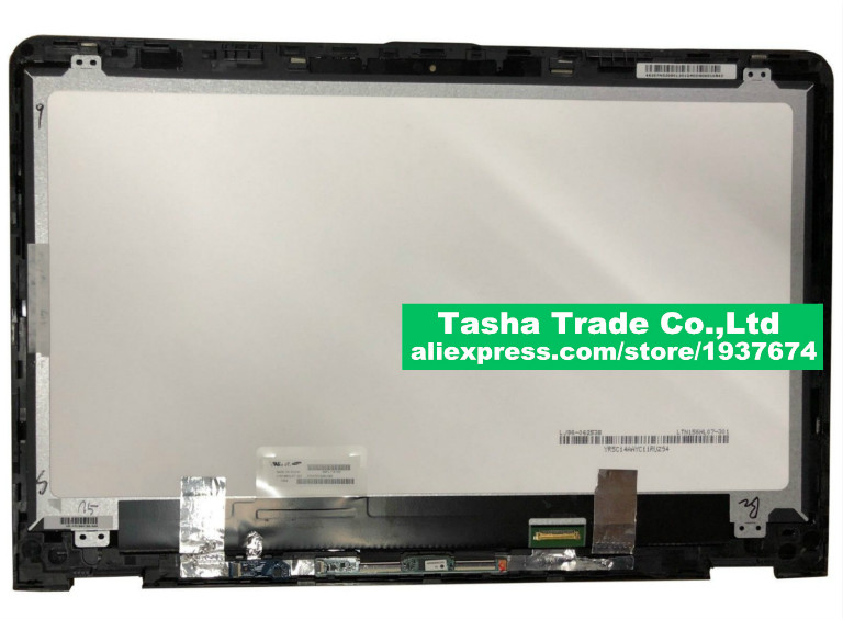 For HP Envy X360 15 aq 15 aq105ng LED LCD Screen+Touch Digitizer bezel assembly with touch board For HP X360
