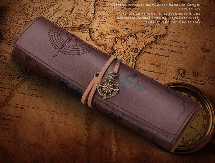 Treasure Map Vintage Pencil Case 18