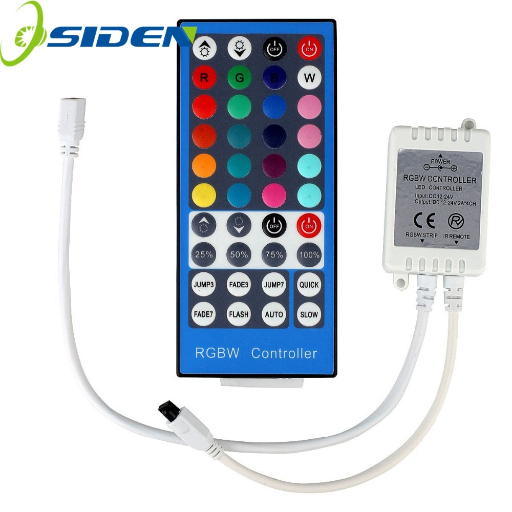 Controller 40Key Strip RGBW / RGBWW SMD 5050 LED Strip Light DC 12V 24V 6A IR Infrared Remote Controller Dimmer 20 Colors