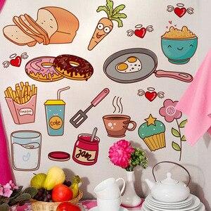 Food Fruit pattern Refrigerator Door Stickers Self Adhesive Wall Sticker Wallpaper Drawer Shelf Liner Home Kitchen Decor(China)