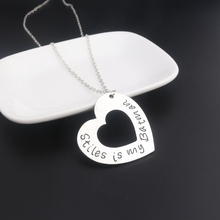 Batman Hollow Double Heart Vintage Pendant Necklace