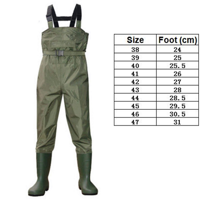 High-Jump 0.35mm Breathable Clothes for Fishing Waders Waterproof 700D Nylon+PVC Chest Height Pocket+Belt Hunting Fish OverallsHigh-Jump 0.35mm Breathable Clothes for Fishing Waders Waterproof 700D Nylon+PVC Chest Height Pocket+Belt Hunting Fish Overalls