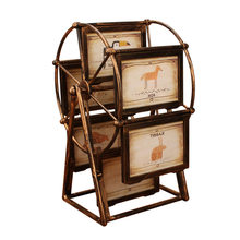 Bronze Ferris Wheel Photo Frame Album 5 inch Photo Wedding Photo Frame Creative Children Set Table Combination Personality Gifts(China)