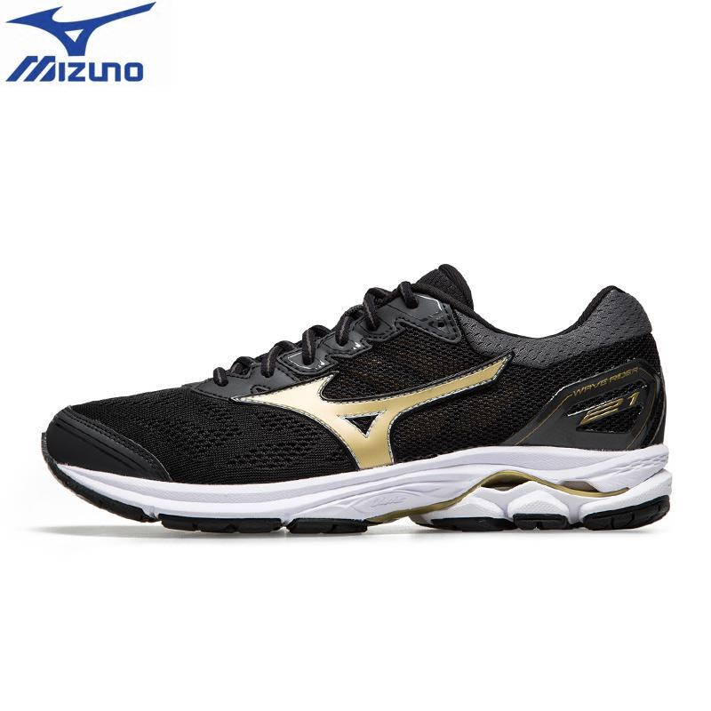 sports shoes be9ca 72267 2018 original MIZUNO WAVE RIDER 21 Running Shoes for men Breathable  Wearable Sports Shoes Sneakers J1GC180309-in Running Shoes from Sports    Entertainment ...