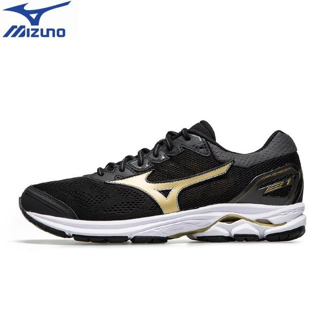 low priced 50c71 633f2 2018 original MIZUNO WAVE RIDER 21 Running Shoes for men Breathable  Wearable Sports Shoes Sneakers J1GC180309