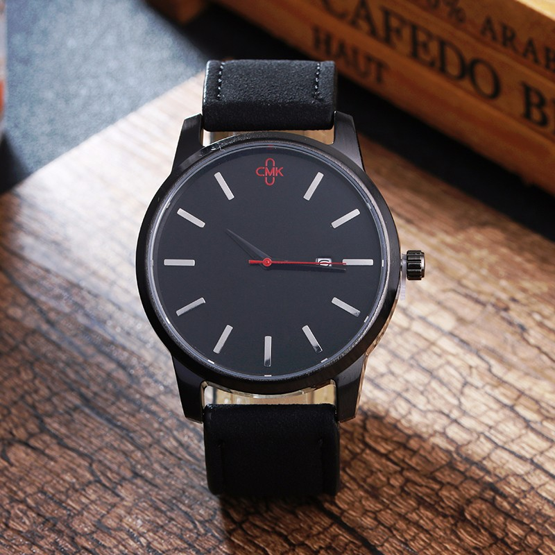 Military Leather Business Quartz Luxury Sport Casual wrist Men Watch 4