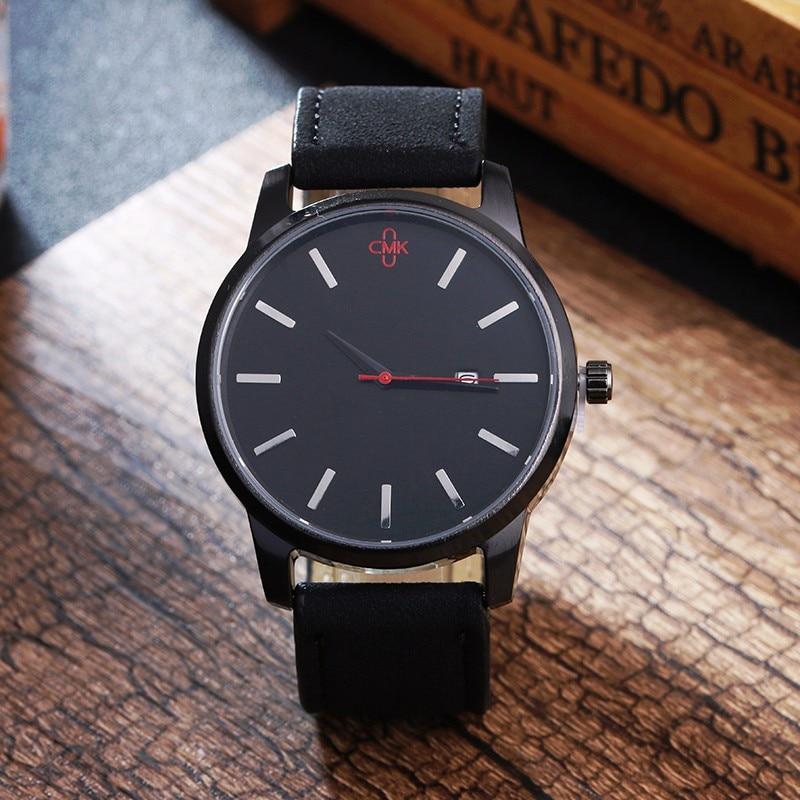 Military Leather Business Quartz Luxury Sport Casual wrist Men Watch 4