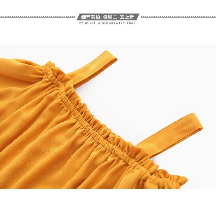 Women's Clothing 2019 Summer New Sexy Bohemian Style Spaghetti Strap Helf Sleeve High Waist Sling Long Beach Wide Leg Jumpsuit 34