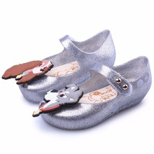 Melissa Twins Dog New Summer Print Star Moon 2019 New Lady Tramp Sandals Jelly Shoe Fish Mouth Girl Non-slip Kids Sandal jookrrix 2018 summer new girl western style fashion ankle boots rivets shoe women sexy lady shoe black good quality fish mouth
