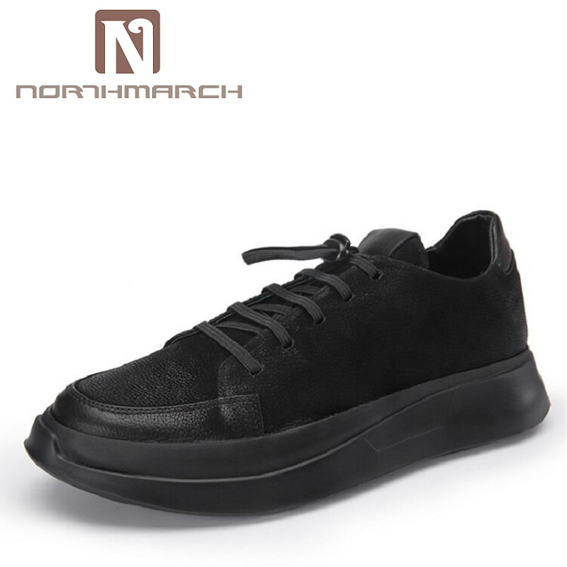 NORTHMARCH New Men Casual Lace Up Fashion Brand Shoes Men Flats Breathable Shoes Classic Mens Shoes Black zapatos hombre цена