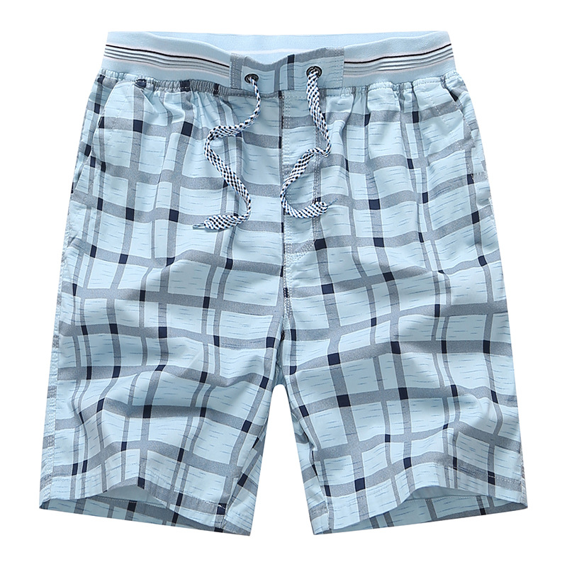 remise pour vente chaussures pour pas cher une performance supérieure New Summer Plaid Shorts Men Classic 100%Cotton Mid Casual Elastic Man  Shorts Bermuda Homme Plus Size M-4xl