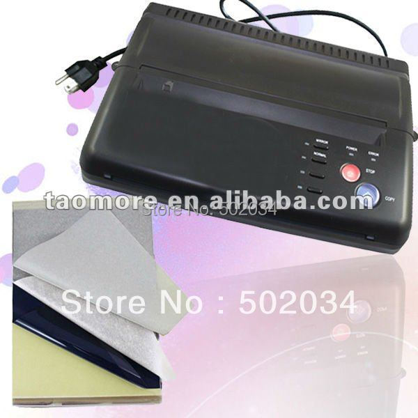HOT Black Tattoo Thermal Stencil Paper Maker Transfer Copier Printer Machine WS-200 FREE shipping&gift