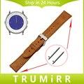 20 мм Из Натуральной Кожи Ремешок Для Часов Quick Release Ремешок для Pebble Раз 20 мм Брэдли Часы Наручные Пояс Bracelt Коричневый