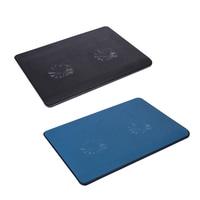 2 Fans USB Laptop Cooler Cooling Pad Base LED Notebook Cooler Computer USB Fan Stand For