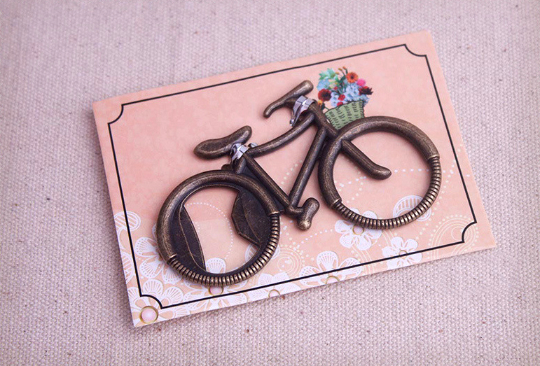 Free Shipping By Fast Delivery 100pcs/lot Wedding Favor Lets Go On An Adventure Bicycle Bottle Opener New Wedding Gift Favors