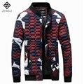 Homens da moda Jaquetas 2016 Homens Da Marca Camuflagem Estrelas Mesmo Casacos Fits Magros Outwears Plus Size S-4XL dos homens Venda Quente de Inverno jaquetas