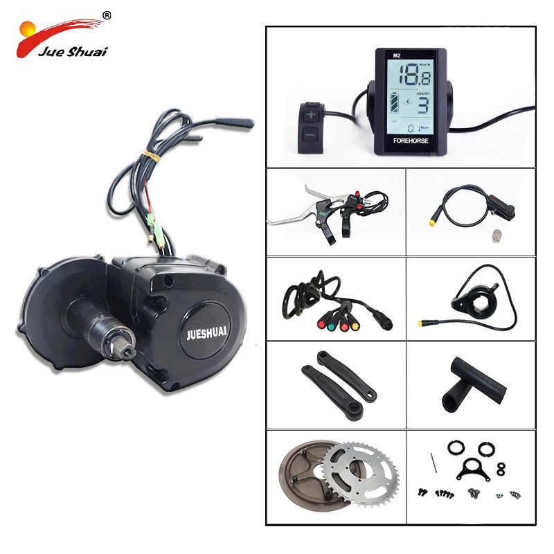 48V 350W 36V 350W Mid Drive Motor Electric Bike Kit for Mountain Bike Road Bike Crank Central engine Kit bicicleta electrica