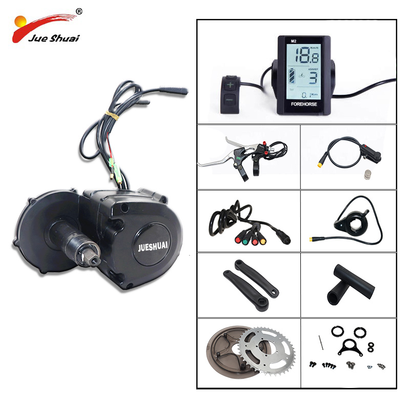 48V 350W 36V 350W Mid Drive Motor Electric Bike Kit for Mountain Bike Road Bike Crank Central engine Kit bicicleta electrica image