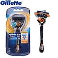 Original de afeitar las hojas de afeitar gillette fusion proglide flexball 1 mango + 1 blade hombres máquina de afeitar