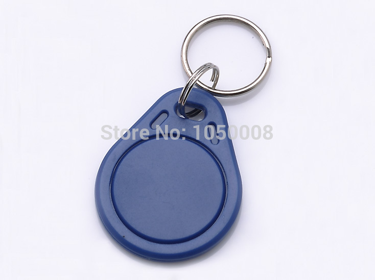 100pcs/lot Mif 1k S50 RFID 13.56Mhz IC Tag Token Key Ring IC cards Blue waterproof china fudan chip free shipping 200pcs mf1k s50 fudan 13 56mhz ic card