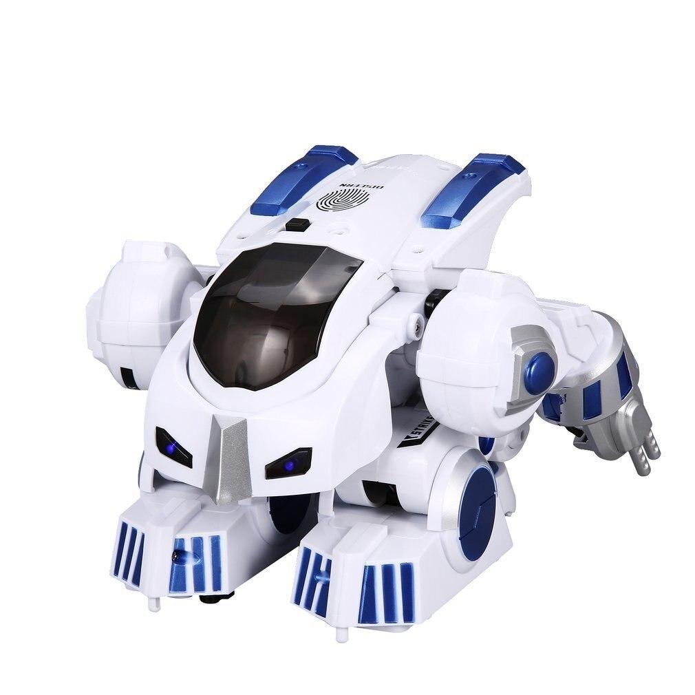 K4 Intelligent Fingerprint Deformation Police RC Robot Walking Dancing Saying Sliding Kids Children Boys Remote Control Toy Gift цены