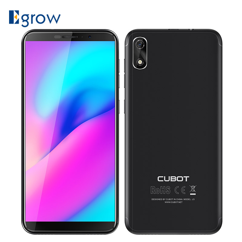 Original Cubot J3 Android Gehen 18:9 Volle Bildschirm 1 gb 16 gb 5,0 zoll MT6580 Quad-Core Smartphone 2000 mah Gesicht ID 3g WCDMA Dual Sim