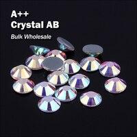 Crystal AB оптовый Hot Fix Стразами аналогичные SWA AAA качество страз исправления камни и кристаллы для украшения одежды