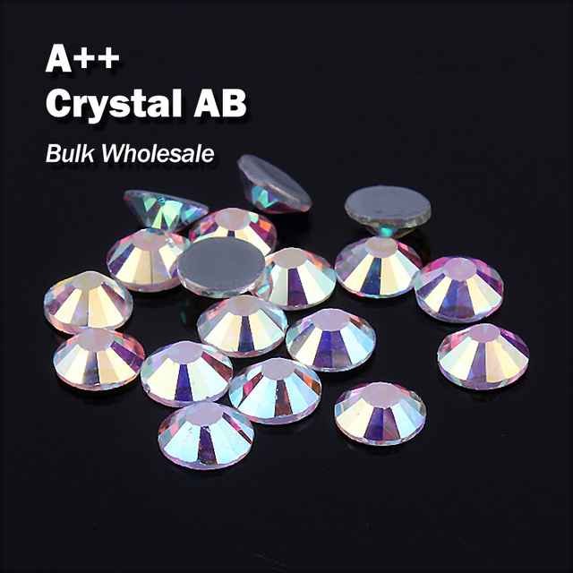 Crystal AB Bulk Wholesale Hot fix Rhinestones Similar Swa AAA Quality  Strass Hotfix Stones and Crystals For Clothes Decoration 3cc68f7d35cc