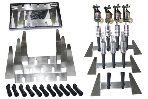 1PC Top Quality  stainless steel Tattoo Machine Gun Holder Stand Rack Rest Organzie Kit Supply For 3 Tatoo Machine Free shipping