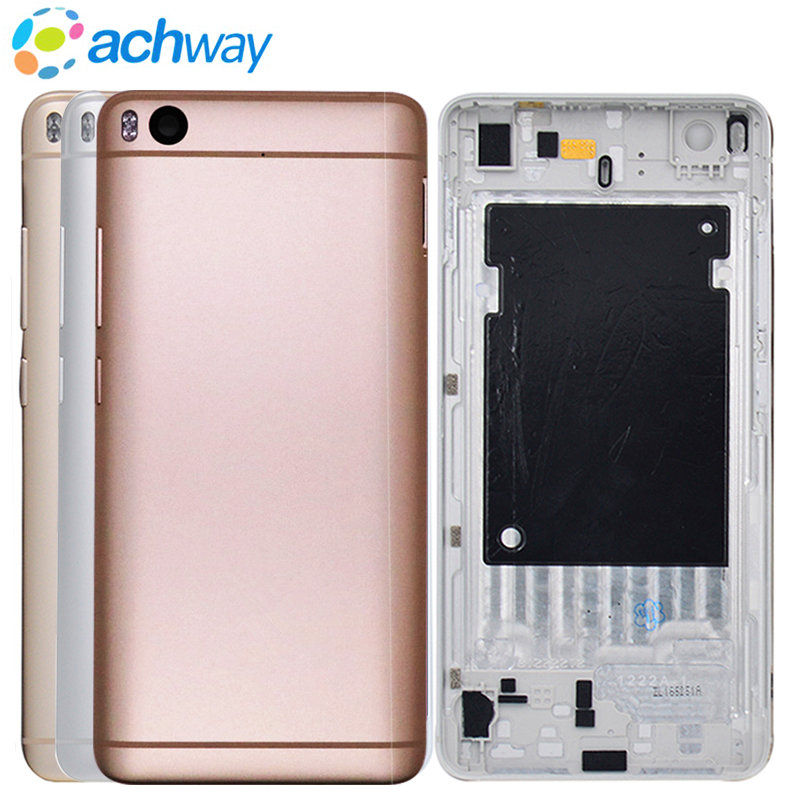 New For Xiaomi Mi5S Mi 5S M5S Rear Back Battery Cover Housing with Power Volume Button Back Cover Door Replacement Parts for 5S