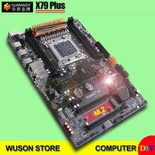 HUANANZHI X79 Plus carte mère avec M.2 SSD slot carte mère avec 2 ports SATA3.0 3 * PCI-E x16 fentes support 4*16G 1866