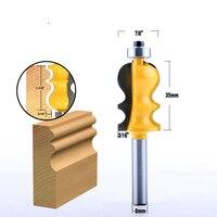 cnc חותך 5PC 8mm Shank מארז & Base נתב דפוס Bit Set CNC Line סכין נגרות חותך שֶׁגֶם קאטר כלים לעיבוד עץ (4)