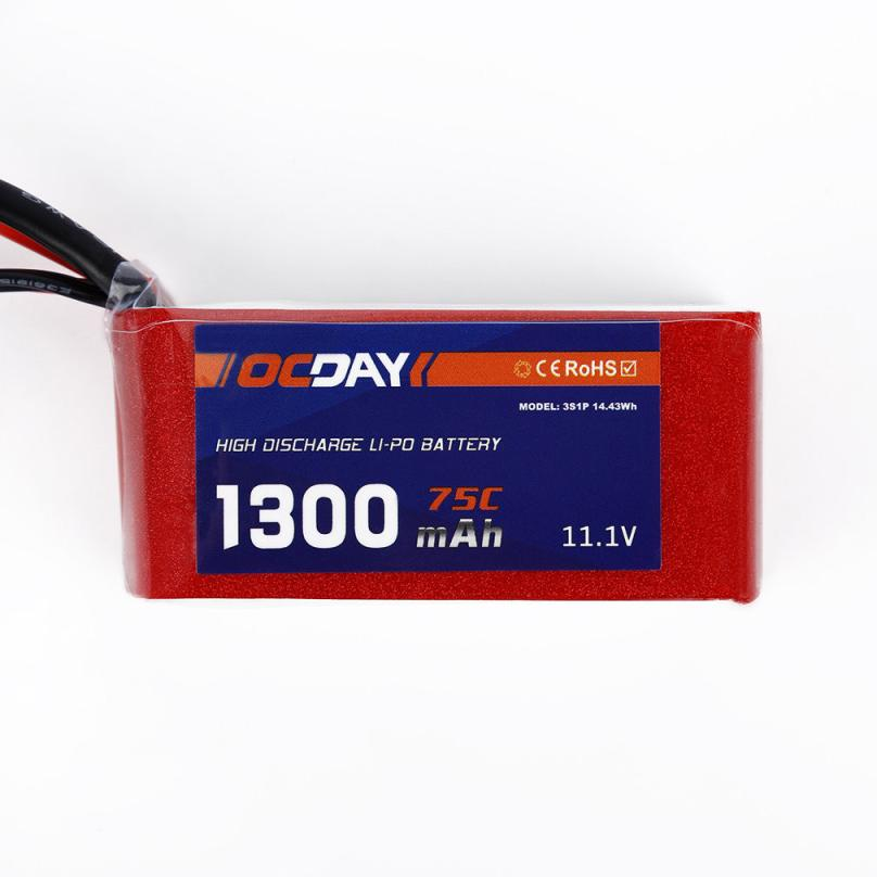 Accessories For Quacopter RC toys & Hobbie  OCDAY 75C Lipo Battery XT60 Plug for 150-280 Raing Quacopter JY4 accessories battery charger for quacopter 3 pc black 7 4v 2700mah 10c battery with ec2 plug for hubsan h501s x4 jy4