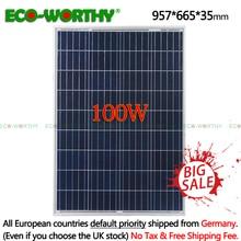100 Вт 18 в поликристаллическая солнечная панель для 12 В зарядное устройство сетка система для домашнего света 1000 Вт солнечная панель s система Комплект