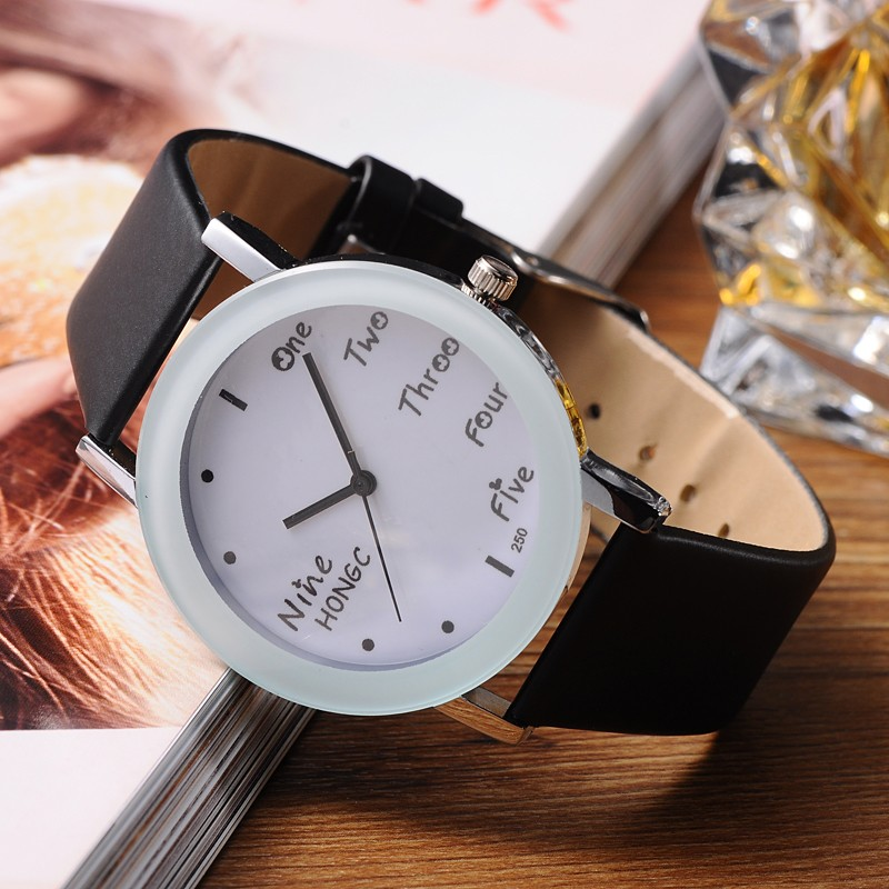 Fashion Leather Strap Watch Women Quartz WristWatch Casual Ladies Dress Watches Gift Relogio Feminino 9 Colors 2015 new watch women fashion casual dress watches elephant quartz wristwatch leather strap relogio clock lowest price n051