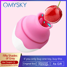 Omysky Mini Oral Clitoris Sucking Stimulator Tongue Vibrator Nipple Sucker Breast Massager Egg size Vibrators Protable Sex Toys