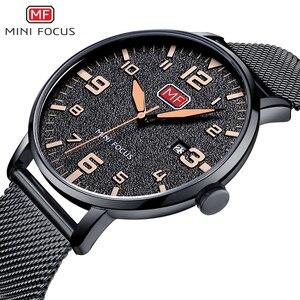 Image 2 - MINI FOCUS Men Watches Stainless Steel Waterproof Luxury Brand Fashion Quartz Watch Relogio Masculino Reloj Hombre  Montre Homme