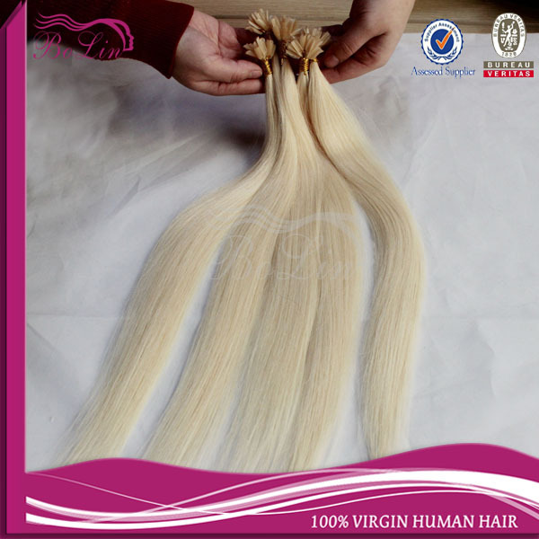 #613 pre bonded stick hair I tip Keratin hair extensions 100% Russian Remy Human Hair