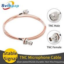 Cable de micrófono TNC 0 6G duradero extensión RG316 Cable Coaxial RF para antena de micrófono Universal