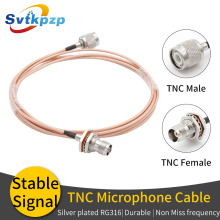TNC Microphone Cable 0-6G Durable RG316 Extension RF Coaxial Cable for Universal Microphone Antenna brand new data cable tnc for trimble gps total station whip antenna connector