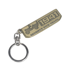 Bronze 1941 Emblems Seventy-Five Years Anniversary Key Ring Key Chains for Jeep Willys Cherokee Liberty Wrangler Compass #CEK086