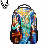 VEEVANV School Backpacks Cute Elephant 3D Prints Bookbag Fashion Girls Backpack Animal Shoulder Bags Children Mochila