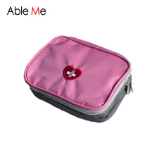 Travel Storage New Love Heart Shape Small First-Aid Kit Storage Medical Kits Korean Style Cosmetic Bag Portable Medical Pouch