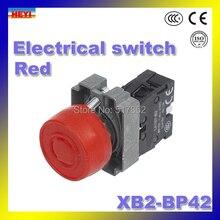 Красный 22 мм переключатель XB2-BP42 IP40, IP65 водонепроницаемый кнопочный переключатель Цвет Опционный датчик давления