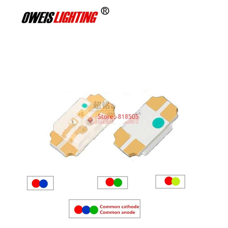 50 LED ROSSO-BLU 0603 SMD LED Bicolore chip doppio colore 2